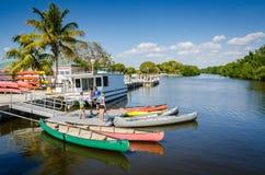 Док каное - национальный парк Biscayne - Флорида Стоковые Изображения RF