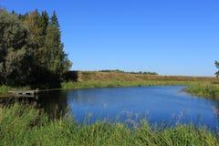 Док на озере Стоковое фото RF