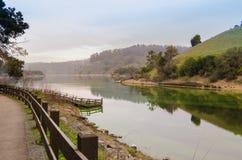 Док на озере Chabot Стоковое фото RF