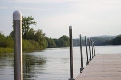 Док на Реке Connecticut Стоковые Фотографии RF