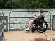 Док рыбной ловли кресло-коляскы доступный стоковое фото rf