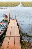 Док шлюпки в озере Стоковая Фотография