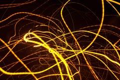 Долгая выдержка излучает света предпосылки красочные современные стоковые фотографии rf
