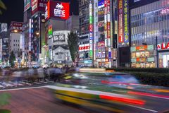 Долгая выдержка Shinjuku Стоковая Фотография RF
