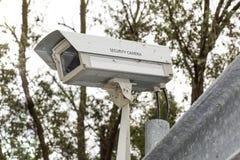 Долгое время старой камеры слежения CCTV работая Стоковые Фотографии RF