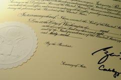 должностное лицо документа Стоковое Изображение
