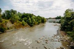 Долина аммонита в Adygea, России - уникально памятнике природы, Belaya River Valley Стоковые Изображения RF