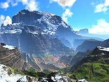долина весны каньона стоковые фотографии rf