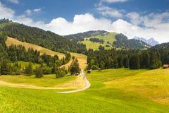 Долина в Швейцарии Стоковые Изображения RF