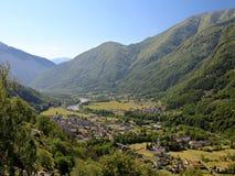 долина городка maggia Стоковая Фотография