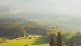 Долина горы зеленая видеоматериал