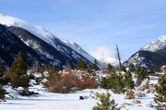Долина горы зимы Стоковая Фотография