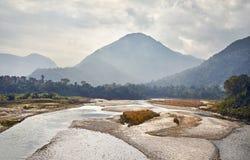 Долина горы Непала стоковая фотография