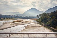 Долина горы Непала стоковые фото