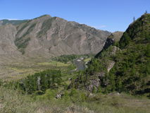 долина горы Стоковая Фотография
