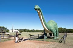 Долина динозавра на реке Paluxy в Техасе Стоковое Изображение
