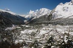 долина дорог горы Стоковые Фотографии RF