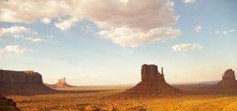 долина захода солнца памятника Стоковые Фотографии RF