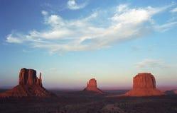 долина захода солнца памятника Стоковое Фото