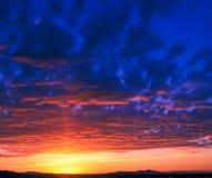 долина захода солнца соли озера Стоковые Фотографии RF