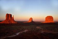 долина индийского парка панорамы navajo памятника соплеменная Стоковое Изображение