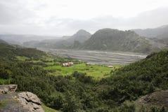 долина Исландии eyjafjallajokull Стоковые Фотографии RF
