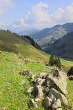 Долина и горы в Австрии стоковое фото