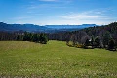 Долина и горы Montville стоковое изображение rf