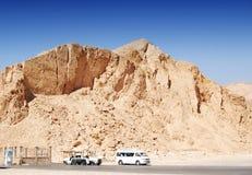 Долина королей в пустыне на Thebes около Луксора, Египта стоковая фотография