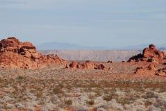 Долина ландшафта огня с образованиями песчаника Стоковое Изображение