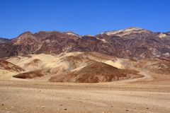 долина ландшафта смерти Стоковые Фотографии RF