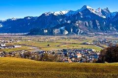 долина ландшафта Стоковая Фотография