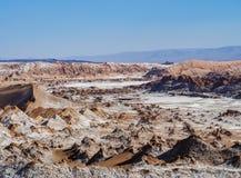 Долина луны, пустыня Atacama в Чили Стоковое фото RF