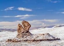 Долина луны, пустыня Atacama в Чили Стоковые Фотографии RF