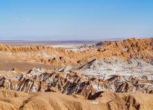Долина луны, пустыня Atacama в Чили Стоковая Фотография RF