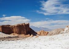 Долина луны, пустыня Atacama в Чили Стоковое Фото