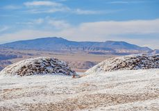 Долина луны, пустыня Atacama в Чили Стоковые Изображения RF