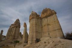 Долина любов, Турция - место всемирного наследия ЮНЕСКО, Cappadocia известно для своих каминов феи и уникального исторического и стоковая фотография