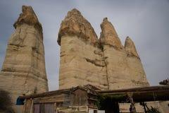 Долина любов, Турция - место всемирного наследия ЮНЕСКО, Cappadocia известно для своих каминов феи и уникального исторического и стоковые фото