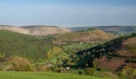 Долина около Llangollen на Horseshoe дороге пропуска Стоковые Изображения RF