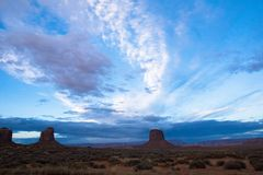 Долина памятника восхода солнца Стоковые Изображения RF