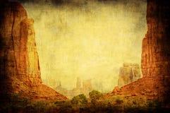 долина памятника ландшафта изображения grunge Стоковое Изображение RF