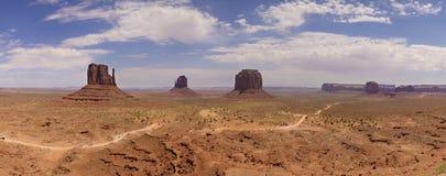 долина памятника панорамная Стоковые Изображения RF