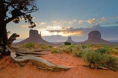 Долина памятника, Юта, США Стоковые Изображения RF