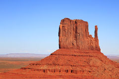 долина памятника mitten butte западная Стоковое фото RF