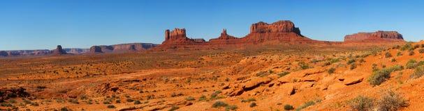 долина панорамы памятника Стоковая Фотография