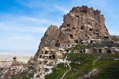 долина подземелья замока cappadocia uchisar Стоковое Фото