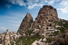 долина подземелья замока cappadocia uchisar Стоковые Изображения