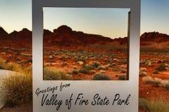 долина положения парка пожара стоковое изображение