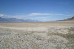долина пустыни смерти parched полом Стоковое Изображение